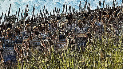 Painting - Macedonian Phalanx At War - 04 by Andrea Mazzocchetti
