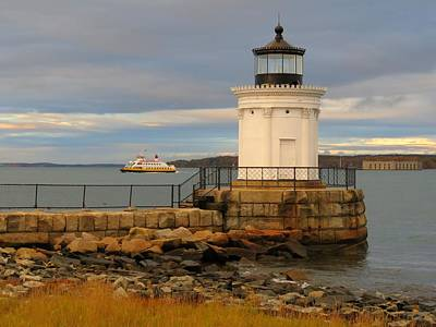 Photograph - Machigonne Passes Bug Light by Keith Stokes