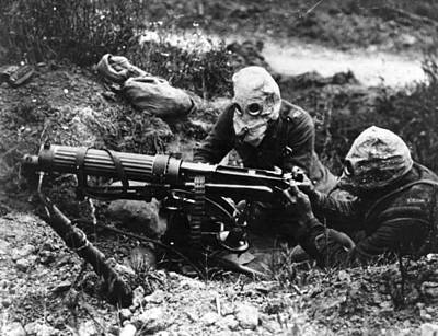 Machine Gunners Art Print by General Photographic Agency