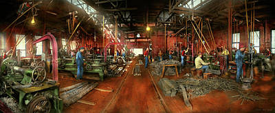Photograph - Machinist - Pumping Out Parts 1905 by Mike Savad