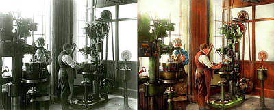 Photograph - Machinist - When Precision Matters 1919 - Side By Side by Mike Savad