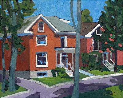 Painting - Mack Street Estates by Phil Chadwick