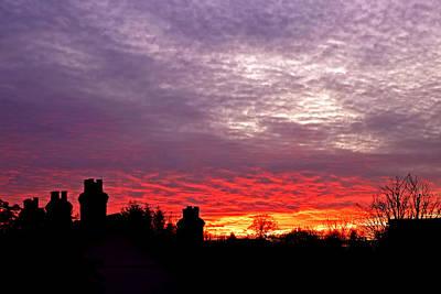 Photograph - Mackerel Sky At Sunset by Gill Billington