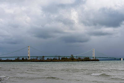 Photograph - Mackinac Bridge 10121802rn by Rick Veldman