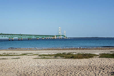 Photograph - Mackinaw Bridge by Pat Cook