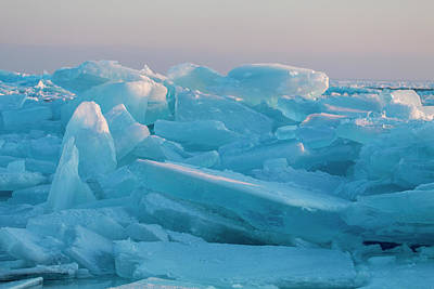 Photograph - Mackinaw City Ice Formations 2161807 by Rick Veldman