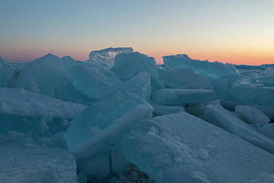 Photograph - Mackinaw City Ice Formations 2161808 by Rick Veldman