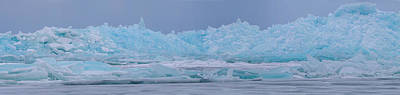 Photograph - Mackinaw City Ice Formations Panorama 2261801 by Rick Veldman