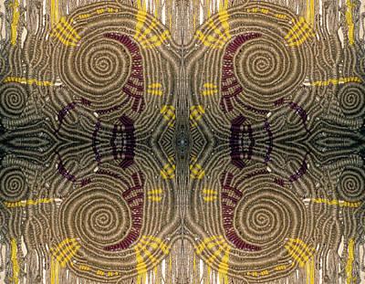 Digital Art - Macrame Spiral Nebula  Mirror by Otto Rapp