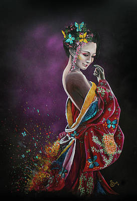 Painting - Madame Butterfly by Sue Art studio