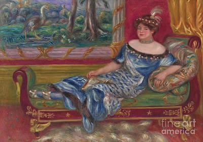 Painting - Madame De Galea A La Meridienne, 1912  by Pierre Auguste Renoir