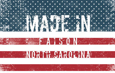 Watercolor Typographic Countries - Made in Faison, North Carolina #Faison #North Carolina by TintoDesigns