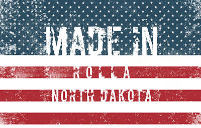 Travel Rights Managed Images - Made in Rolla, North Dakota #Rolla #North Dakota Royalty-Free Image by TintoDesigns