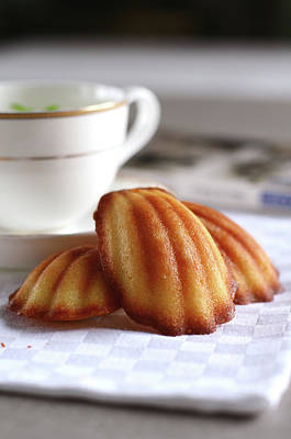 Madeleines With Tea Art Print by Lulu Durand Photography