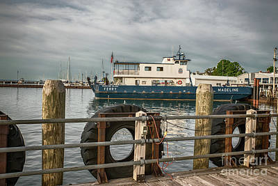 Nikki Vig Royalty-Free and Rights-Managed Images - Madeline Island Car Ferry by Nikki Vig