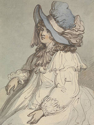 Drawing - Mad'elle Du De L'opera by Thomas Rowlandson