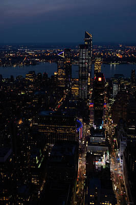 Crystal Wightman Rights Managed Images - Madison Square Garden at Night Royalty-Free Image by Crystal Wightman