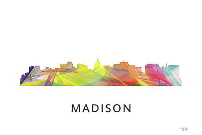 Digital Art - Madison Wb1 by Marlene Watson