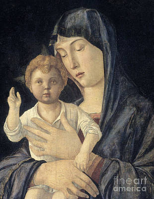 Painting - Madonna And Child By Giovanni Bellini by Giovanni Bellini