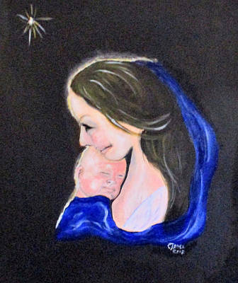 Painting - Madonna And Child by Clyde J Kell