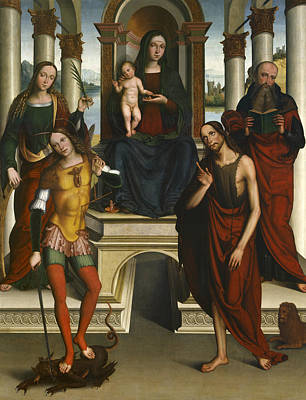 Painting - Madonna And Child Enthroned With Saints by Michele di Luca dei Coltellini