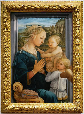 Photograph - Madonna And Child Lippi The Uffizi Gallery Florence Italy by Wayne Moran