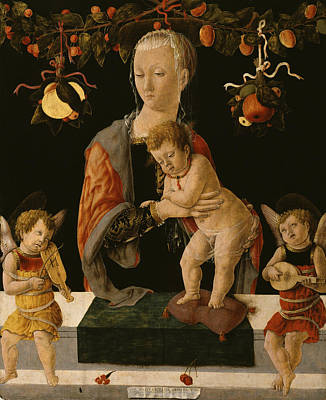 Painting - Madonna And Child With Angels by Giorgio di Tomaso Schiavone