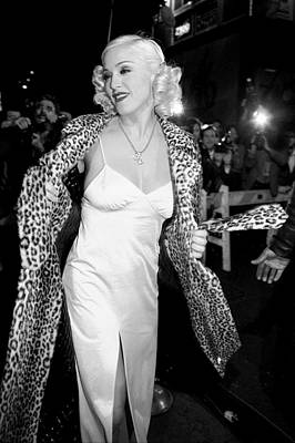 Photograph - Madonna Arrives For Her Pajama Party At by New York Daily News Archive