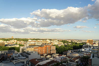 Photograph - Madrid Cityscape From Above - Fine Summer Afternoon by Georgia Mizuleva