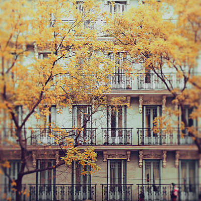 Tranquility Photograph - Madrid Facade In Late Autumn by Julia Davila-lampe
