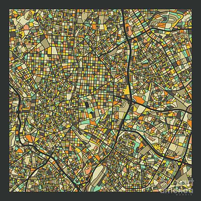 Spain Wall Art - Digital Art - Madrid Map 2 by Jazzberry Blue