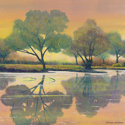 Painting - Madrona Marsh Sunset Reflections by Douglas Castleman