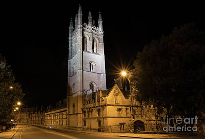 Photograph - Magdalen College At Night by Tim Gainey