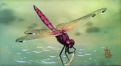 Painting - Magenta Dragonfly by Alina Oseeva