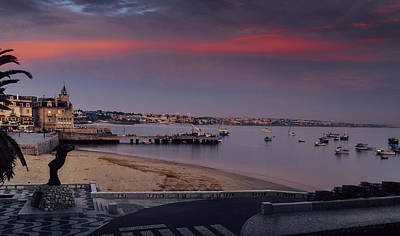 Photograph - Magenta Sunset At Cascais Beach In Portugal by Alexandre Rotenberg