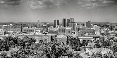 Photograph - Magic City Skyline Bw by Ken Johnson