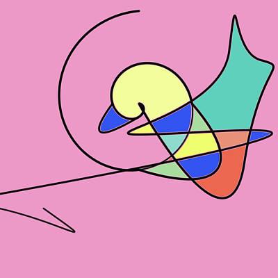 Painting - Magic Duck by Bob Orsillo