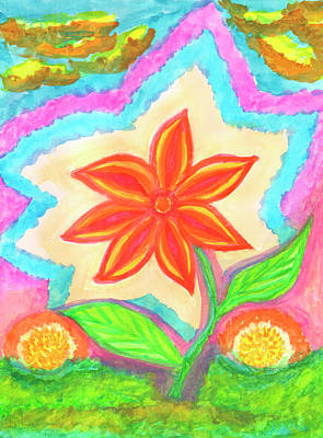Painting - Magic Scarlet Flower  by Irina Dobrotsvet