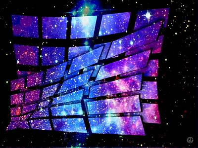 Digital Art - Magic Window To Space by Gun Legler