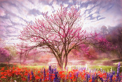 Photograph - Magical Garden In Soft Watercolors by Debra and Dave Vanderlaan