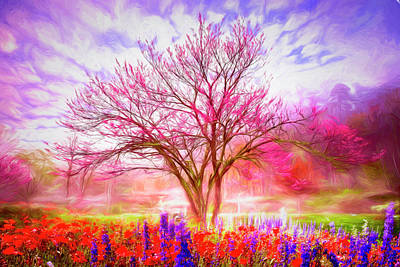 Photograph - Magical Garden Watercolors by Debra and Dave Vanderlaan
