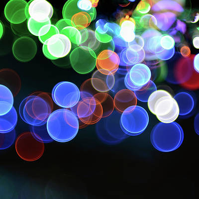 Magical Lights Background Art Print by Alubalish