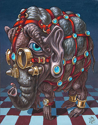 Painting - Magical Many-eyed Elephant by Victor Molev