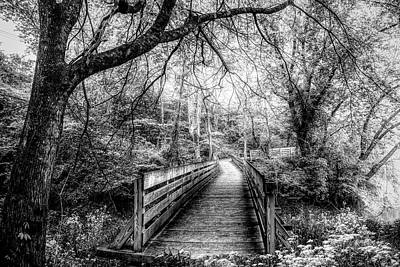 Photograph - Magical Misty Morning In Black And White by Debra and Dave Vanderlaan