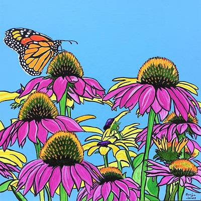 Painting - Magnificant Monarch by Sonja Jones