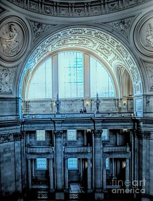 Photograph - Magnificent Architecture Interior San Francisco City Hall   by Chuck Kuhn