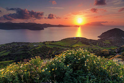 Photograph - Magnificent Greek Sunset by Evgeni Dinev
