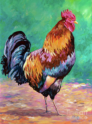 Birds Rights Managed Images - Magnificent Rooster Royalty-Free Image by John Clark