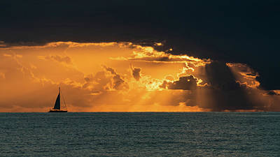 Photograph - Magnificent Sailboat Sunrise II Delray Beach Florida by Lawrence S Richardson Jr