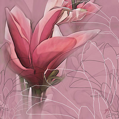 Digital Art - Magnolia Musings by Gina Harrison